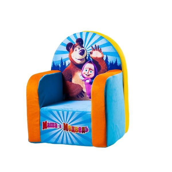 Кресло Маша и Медведь голубое1724/ГЛ