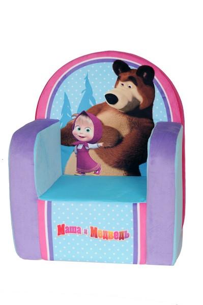 Кресло Маша и Медведь голубое