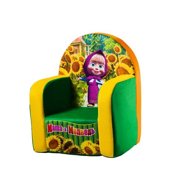 Кресло Маша и Медведь зеленое1724/ЗЛ