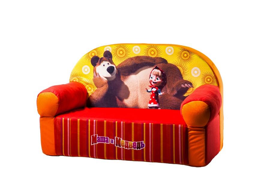 Диван Маша и Медведь оранжевый