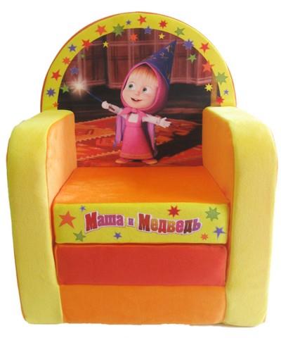 Кресло Маша и Медведь оранжевое раскладывающееся