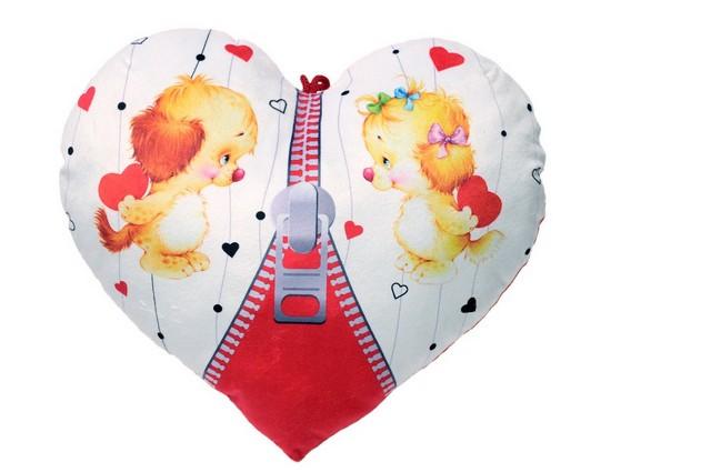 Подушка Сердце с молнией 33*35