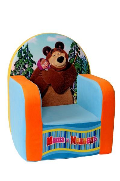 Кресло с чехлом Маша и Медведь с музыкальным элементом 53*41*322045М/ГЛ-1/53