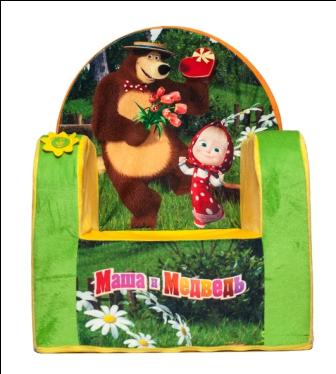 Кресло с чехлом Маша и Медведь с музыкальным элементом 53*41*322045М/ЖЛ-6/53