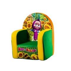 Кресло с чехлом Маша и Медведь с музыкальным элементом 53  диван кровать голд