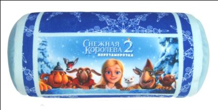 Игрушка подушка-антистресс валик Снежная Королева В352924/ГЛ/35