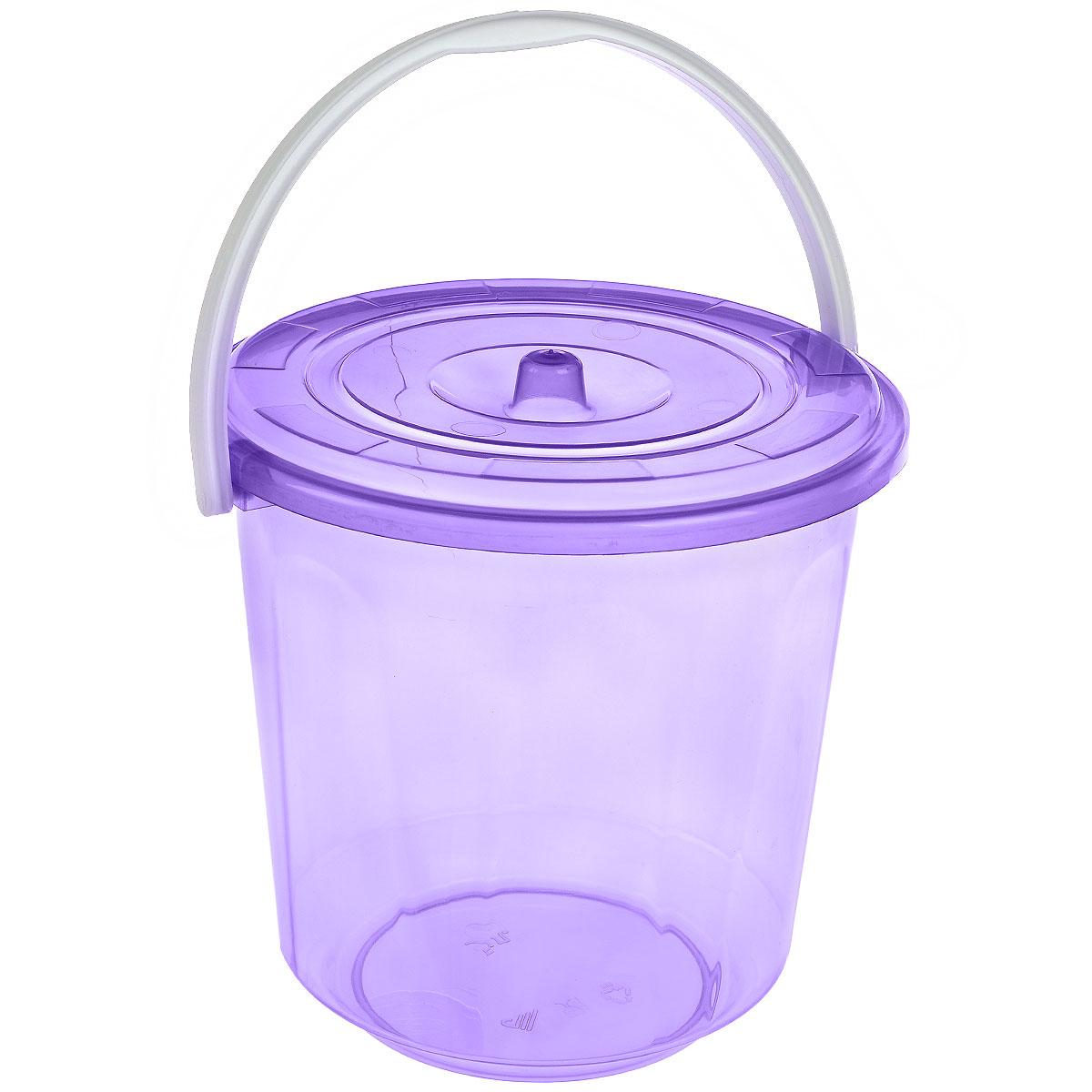 Ведро Альтернатива Хозяюшка, с крышкой, цвет: фиолетовый, 5 лМ1178_фиолетовыйКруглое ведро Альтернатива Хозяюшка изготовлено из высококачественного пластика. Оно легче железного и не подвержено коррозии. Ведро оснащено удобной пластиковой ручкой и плотно прилегающей крышкой. Такое ведро станет незаменимым помощником в хозяйстве. Диаметр (по верхнему краю): 21 см. Высота (без учета крышки): 21 см.