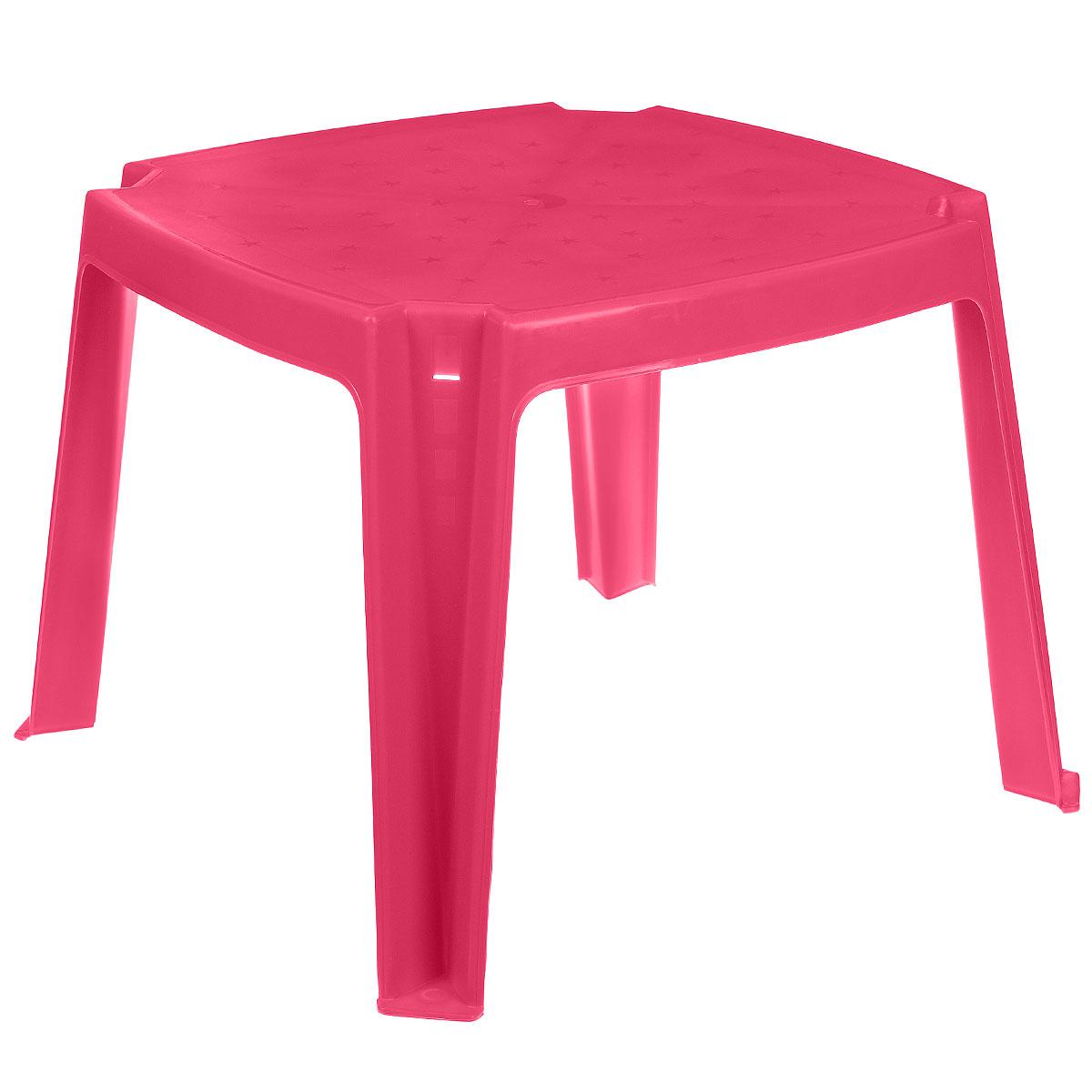 """Стол детский """"PalPlay"""", с карманами, цвет: розовый, 53 см х 53 см 364_розовый"""