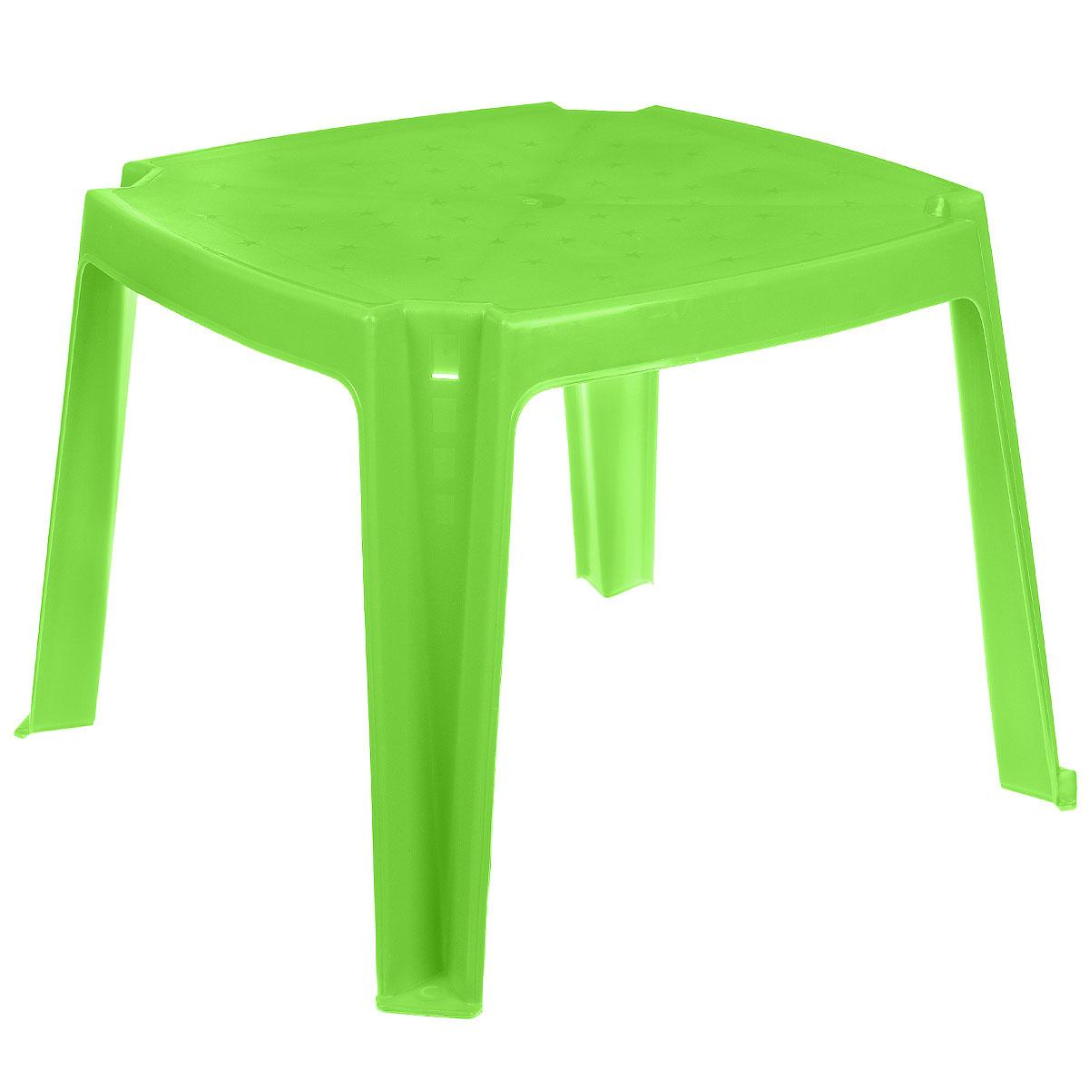 Стол детский PalPlay, цвет: салатовый, 53 см х 53 см365_салатовыйУдобный детский столик PalPlay необходим каждому ребенку. За столиком ребенок может играть, заниматься творчеством. Изделие изготовлено из прочного, но легкого пластика.Теперь у малыша будет отдельный столик, который идеально подойдет ему по размеру и он сможет приглашать на чаепитие своих друзей, в том числе и плюшевых, а также заниматься творческой работой: рисовать, лепить, раскрашивать. Высота стола: 43 см. Размер столешницы: 53 см х 53 см.
