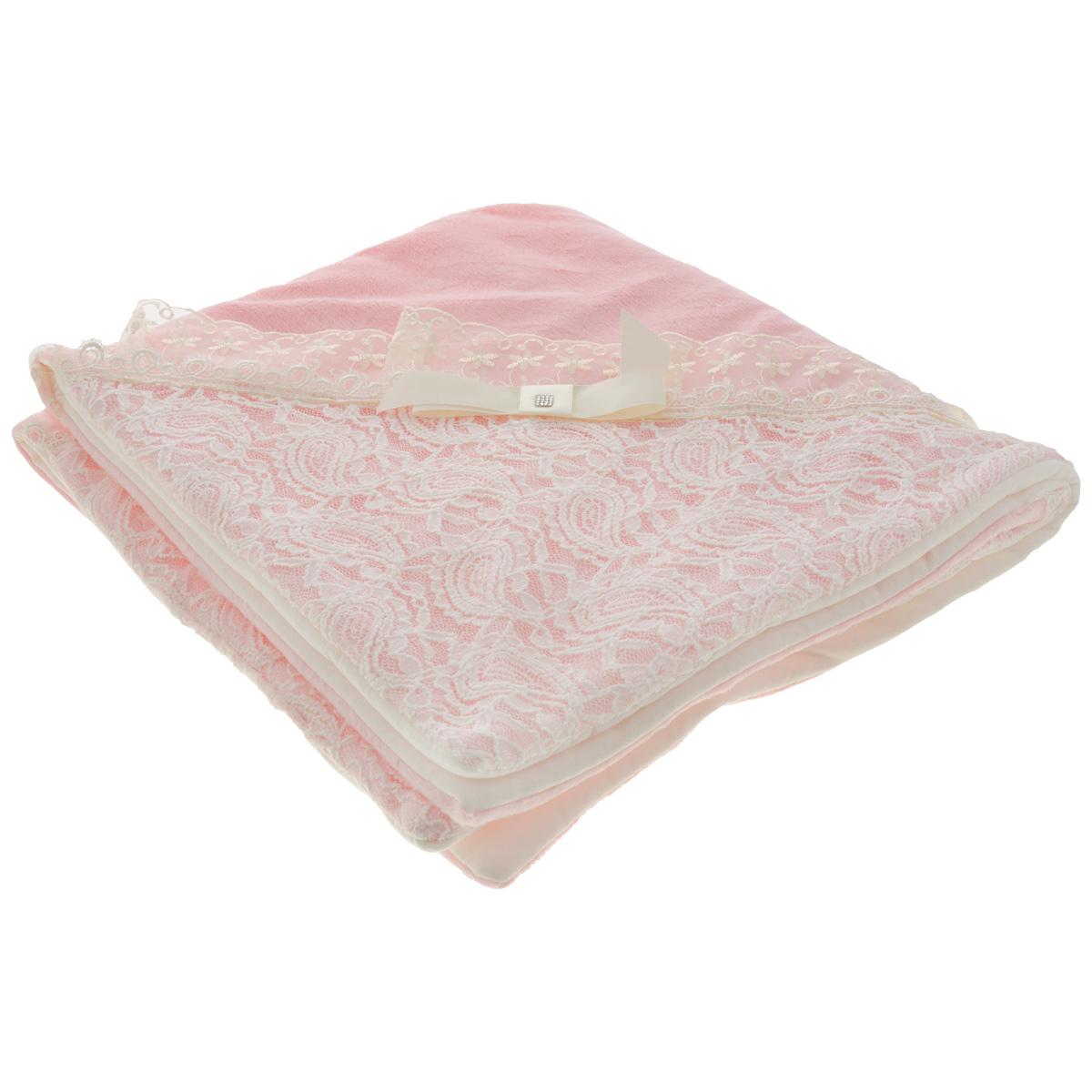 """Плед детский Сонный гномик """"Праздничный"""", цвет: розовый, 77 см х 86 см 1807"""