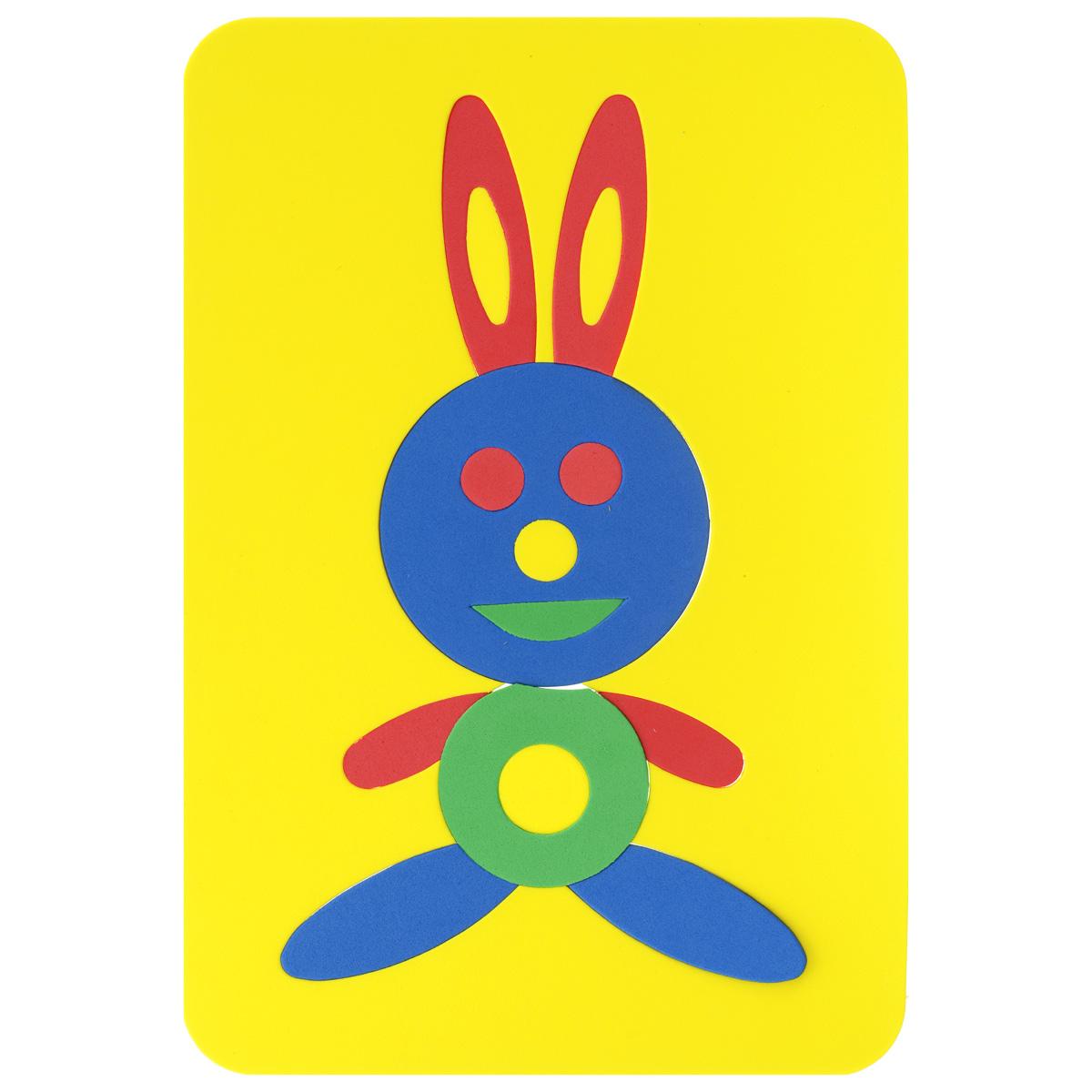 Мягкая мозаика Заяц, цвет основы: желтый, 16 элементов27-2008Мягкая мозаика Заяц выполнена из мягкого полимера, который дает юному конструктору новые удивительные возможности в игре: детали мозаики гнутся, но не ломаются, их всегда можно состыковать. Мозаика представляет собой рамку, в которой из 15 элементов собирается яркий зайчик. Ваш ребенок сможет собрать его и в ванной. Элементы мозаики можно намочить, благодаря чему они будут хорошо прилипать к стене в ванной комнате. Такая мозаика развивает пространственное и логическое мышление, память и глазомер, знакомит с формами и цветом предмета в процессе игры.