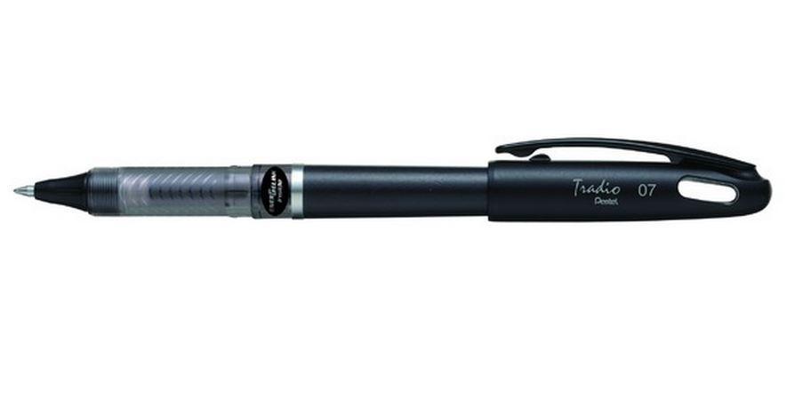 Гелевая ручка TRADIO ENERGEL черный стержень 0.7м, черный корпус в блистереPBL117A-AX