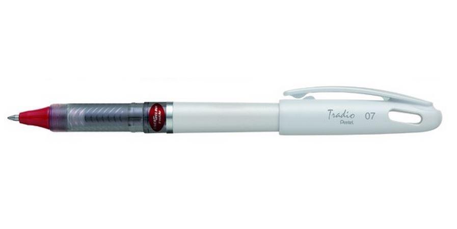 Гелевая ручка TRADIO ENERGEL красный стержень 0.7мм, белый корпус, в блистереPBL117W-BX