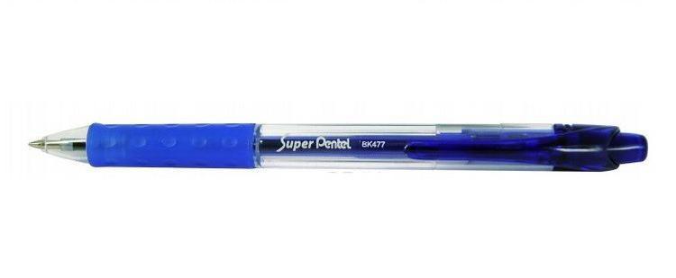 Шар.ручка SUPER PENTEL синий стержень 0.7мм