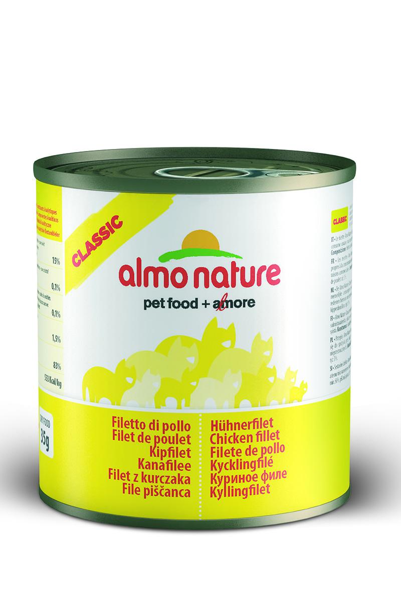 Консервы для кошек Almo Nature Classic, с куриным филе, 280 г20066Консервы Almo Nature Classic - это супер-премиум корм для кошек в банке с ключом, которая сохраняет свежесть каждого кусочка. Корм изготовлен только из свежих высококачественных натуральных ингредиентов, что обеспечивает здоровье вашей кошки. Не содержит ГМО, антибиотиков, химических добавок, консервантов и красителей. Товар сертифицирован.