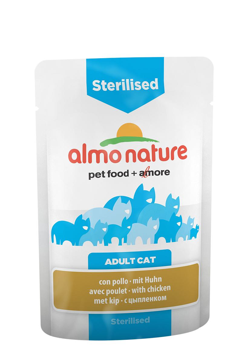 Паучи для кастрированных кошек с цыпленоком (Functional Sterilised with Chicken), 70 г.20339Состав: мясо и его производные (курица 4%), рыба и ее производные, производные растительного происхождения, экстракт растительного белка, минералы. Добавки: витамин D3 325 IU/кг, витамин E 32 мг/кг, витамин B1 2,5 мг/кг, витамин C 101 мг/кг, E2 (Иодин) 0,2 мг/кг, E4 (Медь) 0,5 мг/кг, E5 (марганец) 1 мг/кг, E6 (Цинк) 16 мг/кг, биотин 0,015 мг/кг, таурин 0,237 g/kg; технологические добавки: камедь кассии 134 мг/кг. Пищевая ценность: белки 9%, клетчатка 0.8%, масла и жиры 4%, зола 3%, влажность 82%. Калорийность: 768 ккал/кг.