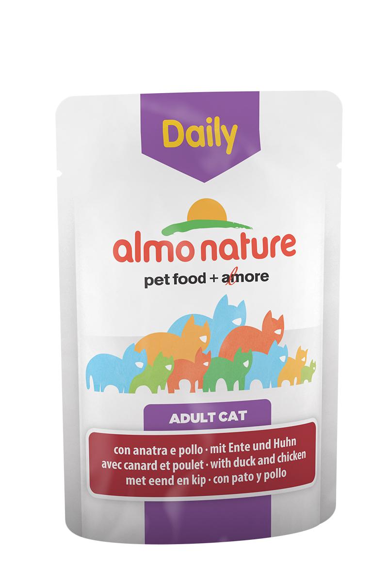 Паучи для кошек Меню с Курицей и уткой (Daily Menu Cat Chicken and Duck), 70 г.20343Состав: мясо и его производные (утка 4%, курица 4%), экстракт растительного белка, производные растительного происхождения, минералы. Добавки: витамин D3 303 IU/кг, витамин E 29 мг/кг, витамин B1 2 мг/кг, E2 (Иодин) 189 мг/кг, E4 (Медь) 0,54 мг/кг, E5 (марганец) 1 мг/кг, E6 (Цинк) 14 мг/кг, таурин 221 мг/кг; технологические добавки: камедь кассии 599 мг/кг. Пищевая ценность: белки 9%, клетчатка 0.8%, масла и жиры 5%, зола 3%, влажность 82%. Калорийность: 818 ккал/кг.