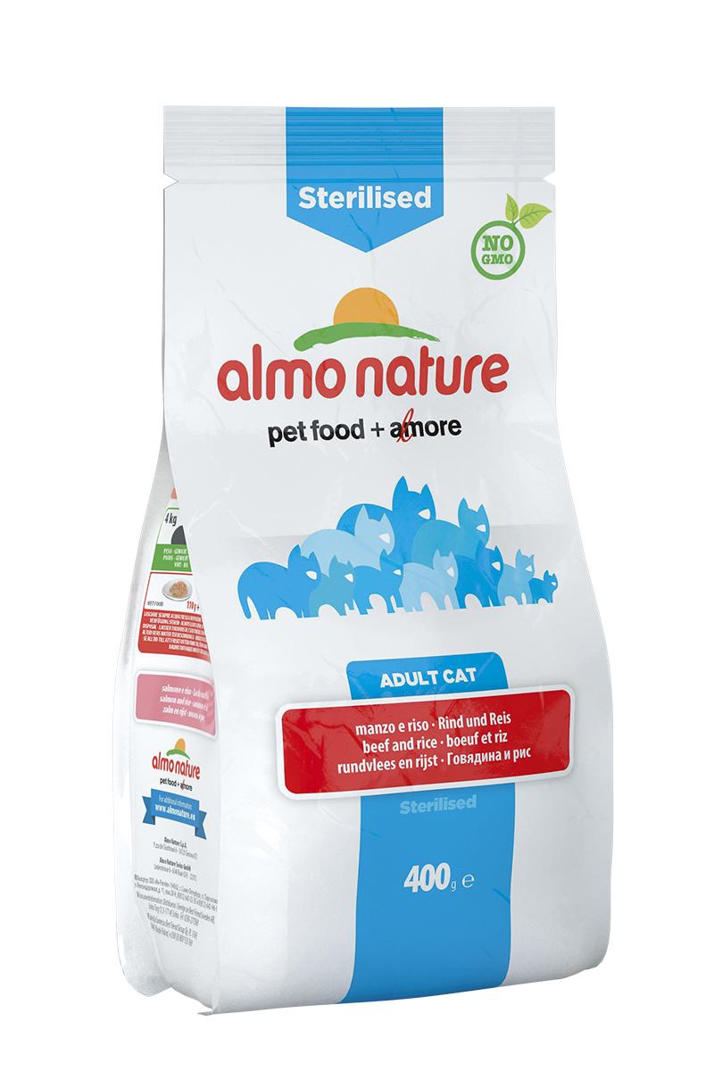 Корм сухой Almo Nature Functional line для кастрированных кошек, с говядиной и рисом, 400 г20355Полнорационный корм Almo Nature Functional line рекомендован для кастрированных кошек. Корм содержит большой процент свежего мяса, что обеспечивает необходимым количеством питательных веществ и оптимальным содержанием протеина. Прекрасный вкус обеспечивается за счет свежих натуральных ингредиентов. Не содержит искусственных добавок, красителей, ароматизаторов, консервантов. Состав: мясо и его производные (15% свежей говядины ), злаки (рис 14%), экстракт растительного белка, масла и жиры, производные растительного происхождения (клетчатка 0,5%,инулин из цикория- источник ФОС-0,1%, юкка шидигера 0,1%), дрожжи, минералы, мананоолигосахариды, семена (льняное семя 0,1%). Пищевые добавки: витамин A 24000 IU/кг, витамин D3 1700 IU/кг, витамин E 400 мг/кг, витамин B1 10 мг/кг, витамин B2 8 мг/кг, кальций-D-пантотенат 16 мг/кг, витамин B6 6 мг/кг, витамин B12 0,15 мг/кг, витамин C 50 мг/кг, витамин K 1 мг/кг, биотин 0,50 мг/кг, фолиевая кислота 1 мг/кг, ...