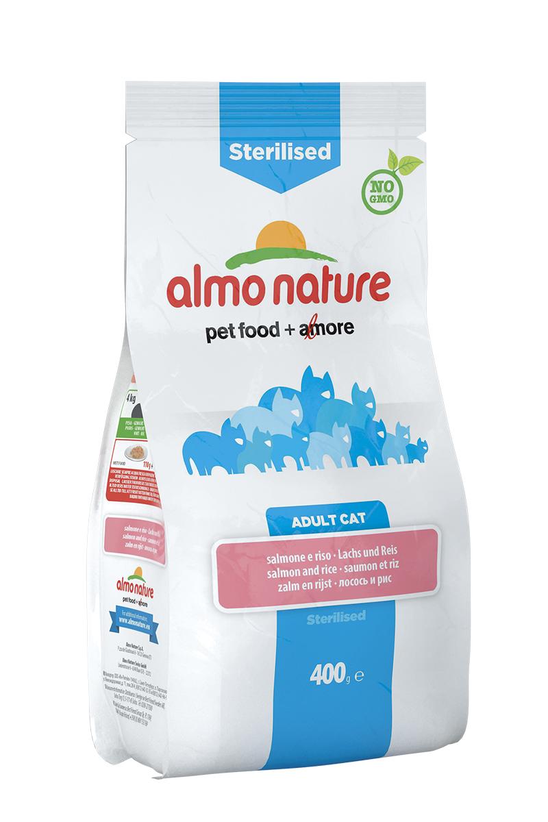 Корм сухой Almo Nature Functional line для кастрированных кошек, с лососем и рисом, 400 г20356Полнорационный корм Almo Nature Functional line рекомендован для кастрированных кошек. Корм содержит большой процент свежей рыбы, что обеспечивает необходимым количеством питательных веществ и оптимальным содержанием протеина. Прекрасный вкус обеспечивается за счет свежих натуральных ингредиентов. Не содержит искусственных добавок, красителей, ароматизаторов, консервантов. Состав: рыба и ее производные (16,8% свежий лосось), мясо и его производные, злаки ( рис 16,5%), экстракт растительного белка, масла и жиры, производные растительного происхождения (клетчатка 0,5%, юкка шидигера 0,3%, Инулин из цикория - источник ФОС-0,1%), дрожжи, минералы, мананоолигосахариды. Пищевые добавки: витамин A 24000 IU/кг, витамин D3 850 IU/kg, витамин E 400 мг/кг, витамин B1 5 мг/кг, витамин B2 4 мг/кг, кальций-D-пантотенат 8 мг/кг, витамин B6 3 мг/кг, витамин B12 0,08 мг/кг, витамин C 25 мг/кг, витамин K 0,50 мг/кг, ниацин 25 мг/кг, биотин 0,25 мг/кг,...