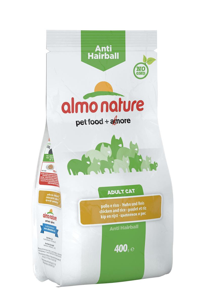 Корм сухой Almo Nature для взрослых кошек, с курицей и рисом, 400 г20358Корм Almo Nature, предназначенный для взрослых кошек, содержит большой процент свежего мяса, что обеспечивает необходимое количество питательных веществ и оптимальное содержанием протеина. Корм создан для самых привередливых и аллергичных кошек. Прекрасный вкус обеспечивается за счет свежих натуральных ингредиентов. Корм сохраняет свои свойства за счет натуральных антиоксидантов. Не содержит искусственных добавок, красителей, ароматизаторов, консервантов. Для обеспечения естественных потребностей в углеводах в состав корма входит высокоусвояемая смесь зерновых (рис, ячмень, овес). Мясные ингредиенты, входящие в состав соответствуют стандарту Human Grade (качество как для людей). Оптимальное количество калорий способствует сохранению нормального веса. Состав: мясо и его производные (23% свежая курица), злаки (рис 16%), экстракт растительного белка, производные растительного происхождения (клетчатка 0,5%,Инулин из цикория - источник ФОС-0,1%, юкка шидигера 0,1%), масла и...