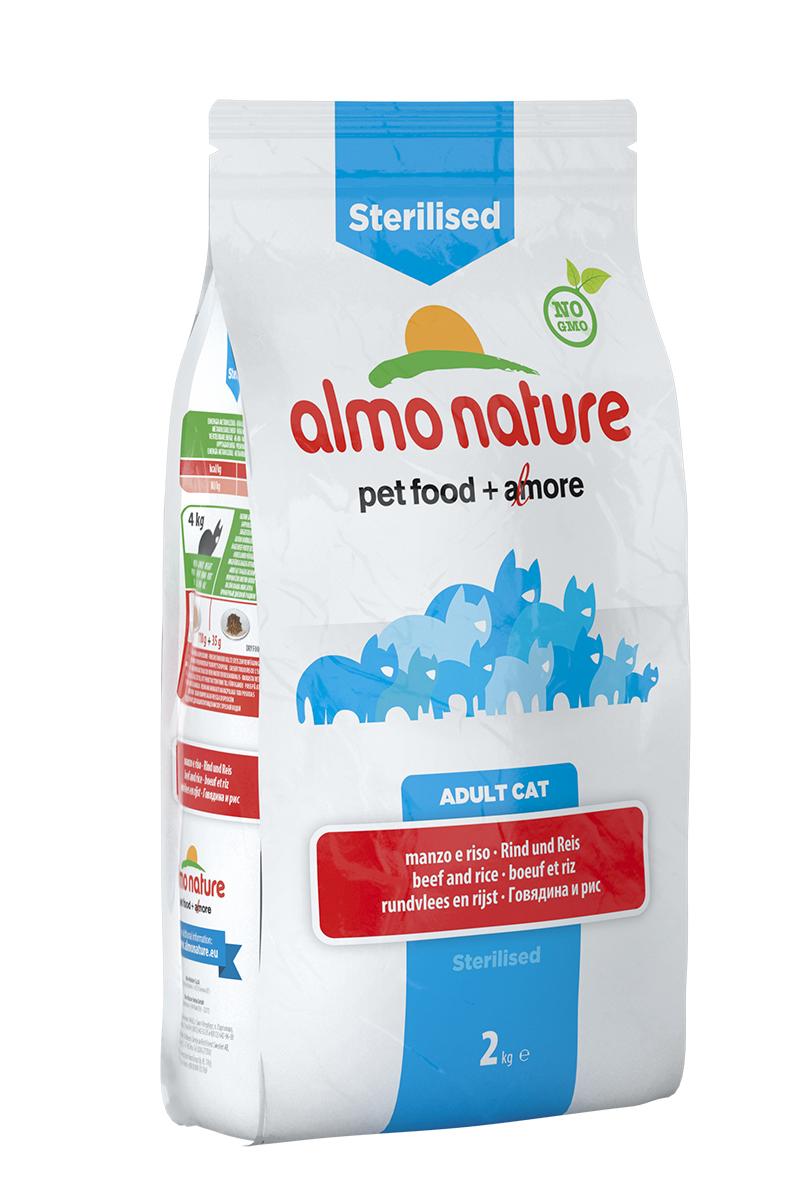 Корм сухой Almo Nature Functional line для кастрированных кошек, с говядиной и рисом, 2 кг20359Полнорационный корм Almo Nature Functional line рекомендован для кастрированных кошек. Корм содержит большой процент свежего мяса, что обеспечивает необходимым количеством питательных веществ и оптимальным содержанием протеина. Прекрасный вкус обеспечивается за счет свежих натуральных ингредиентов. Не содержит искусственных добавок, красителей, ароматизаторов, консервантов. Состав: мясо и его производные (15% свежей говядины ), злаки (рис 14%), экстракт растительного белка, масла и жиры, производные растительного происхождения (клетчатка 0,5%,инулин из цикория- источник ФОС-0,1%, юкка шидигера 0,1%), дрожжи, минералы, мананоолигосахариды, семена (льняное семя 0,1%). Пищевые добавки: витамин A 24000 IU/кг, витамин D3 1700 IU/кг, витамин E 400 мг/кг, витамин B1 10 мг/кг, витамин B2 8 мг/кг, кальций-D-пантотенат 16 мг/кг, витамин B6 6 мг/кг, витамин B12 0,15 мг/кг, витамин C 50 мг/кг, витамин K 1 мг/кг, биотин 0,50 мг/кг, фолиевая кислота 1...