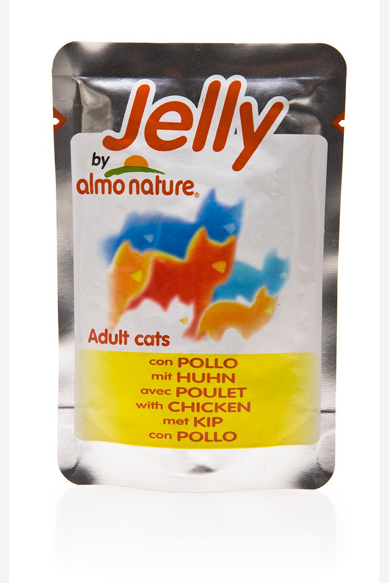 Паучи Курица в Желе для кошек (Jelly Cat Chicken), 70 г.22520Состав: курица - 51%, куриный бульон в желатине (желе) - 48.5%, рис - 0.5%. Гарантированный анализ: белки – 11.5%, клетчатка - 1%, жиры - 0.1%, зола - 2%, влажность – 85%. Калорийность: 411 ккал/кг.