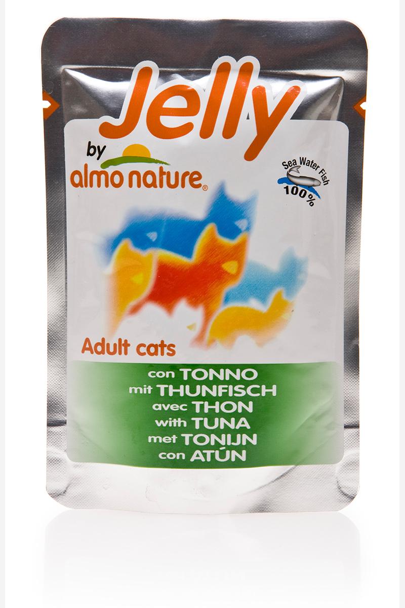 Паучи Тунец в Желе для кошек (Jelly Cat Tuna), 70 г.22522Состав: тунец - 51%, рыбный бульон в желатине (желе) - 48.5%, рис – 0.5%. Гарантированный анализ: белки – 12%, клетчатка - 1%, жиры - 0.3%, зола - 2%, влажность – 85%. Калорийность: 445 ккал/кг.