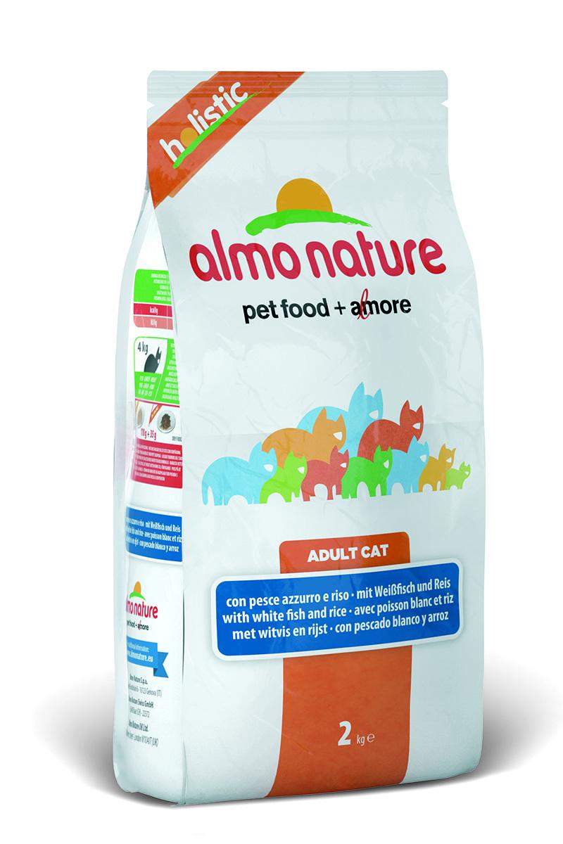 Корм сухой Almo Nature Holistic для взрослых кошек, с белой рыбой и коричневым рисом, 2 кг22592Полнорационный корм Almo Nature Holistic рекомендован для взрослых кошек. Корм содержит большой процент свежей рыбы, что обеспечивает необходимым количеством питательных веществ и оптимальным содержанием протеина. Прекрасный вкус обеспечивается за счет свежих натуральных ингредиентов. Не содержит искусственных добавок, красителей, ароматизаторов, консервантов. Состав: рыба и ее производные (свежей жирной рыбы 25%), злаки (рис 14%), мясо и его производные, экстракт растительных белков, масла и жиры, минералы, производные растительного происхождения (инулин из цикория- источник ФОС- 0.1%), маннаноолигосахариды. Пищевая ценность: белки 31%, клетчатка 1,5%, масла и жиры 15%, зола 8,5%, влажность 8,5%. Калорийность: 3655 ккал/кг. Товар сертифицирован.