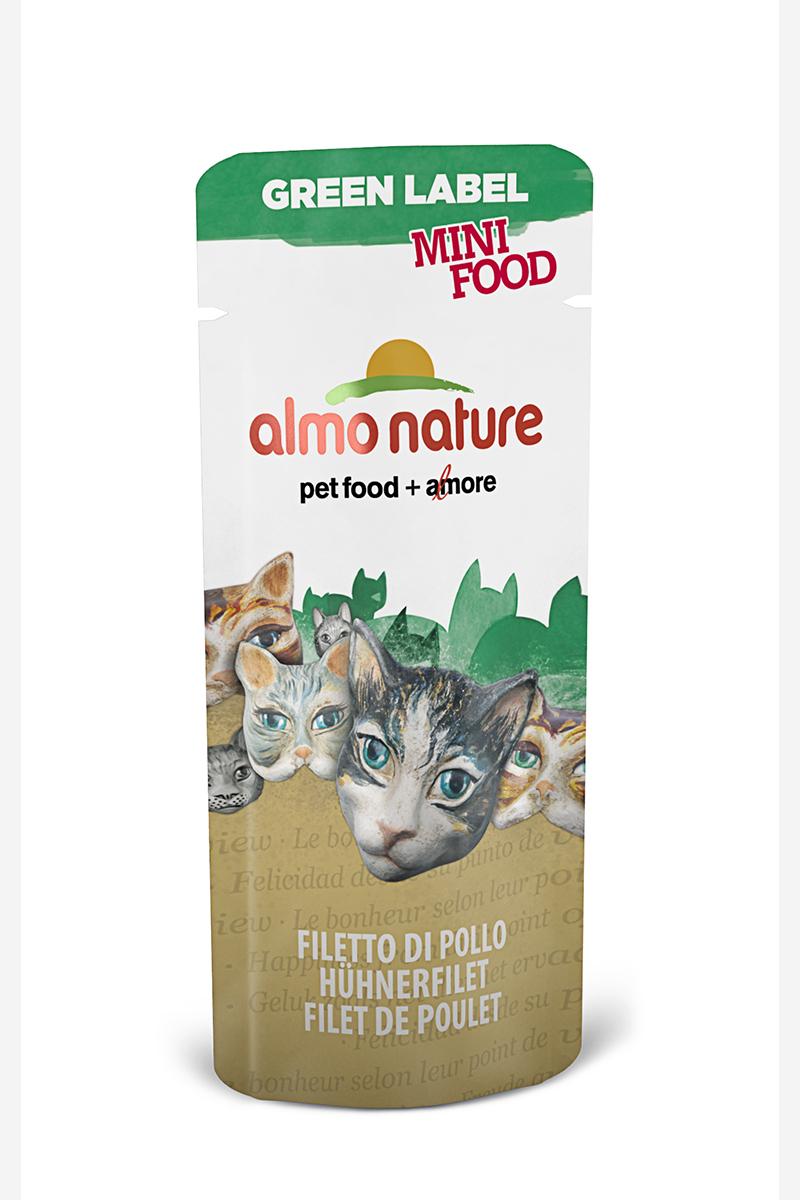 Лакомство для кошек Куриное филе, 99% мяса (Green Label Mini Food Chicken Fillet), 3 г.22597Состав: филе цыпленка – 99%, рис – 1%