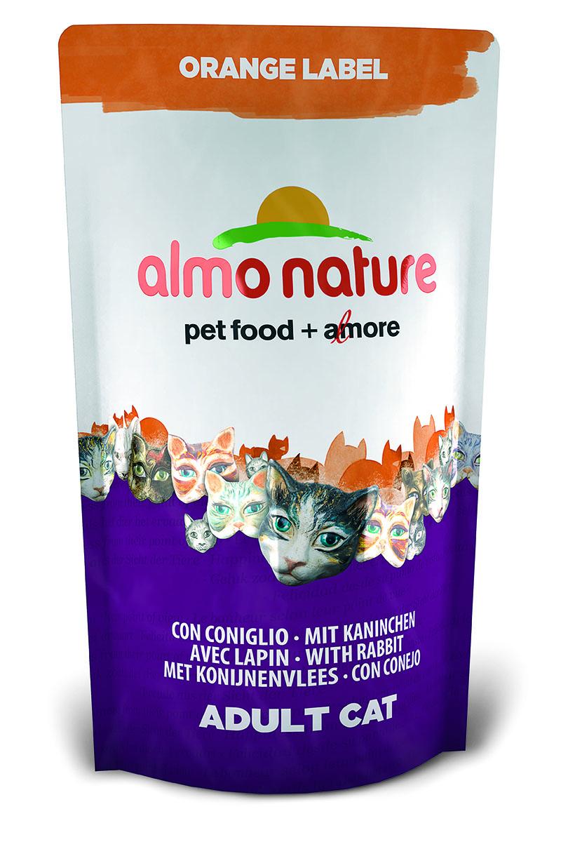 """Корм сухой Almo Nature """"Orange label"""" для кастрированных кошек, с кроликом, 750 г 23238"""