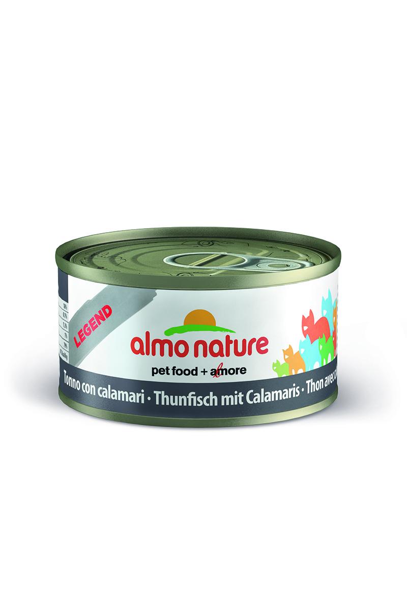 New Консервы для Кошек с Тунцом и Кальмарами (Legend Adult Cat Tuna&Squids), 70 г.24182Состав: тунец 70%, рыбный бульон 24%, кальмары 5%, рис 1%. Пищевая ценность: белки 17%, клетчатка 0,1%, масла и жиры 1,3%, зола 1%, влажность 79%. Калорийность: 672 ккал/кг.