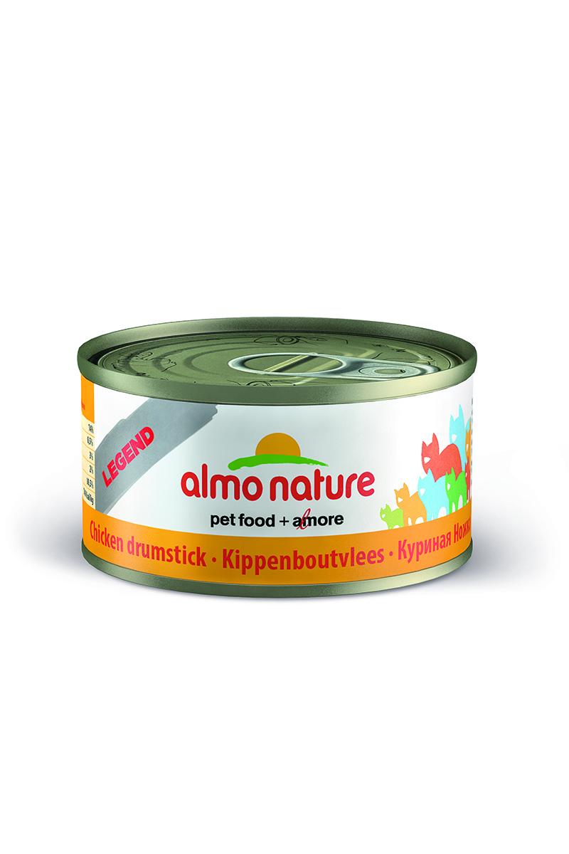 Консервы для кошек Almo Nature Classic, с куриными бедрышками, 70 г24183Консервы Almo Nature Classic - это супер-премиум корм для кошек в банке с ключом, которая сохраняет свежесть каждого кусочка. Корм изготовлен только из свежих высококачественных натуральных ингредиентов, что обеспечивает здоровье вашей кошки. Не содержит ГМО, антибиотиков, химических добавок, консервантов и красителей. Состав: куриная ножка 75%, куриный бульон 24%, рис 1%. Товар сертифицирован.