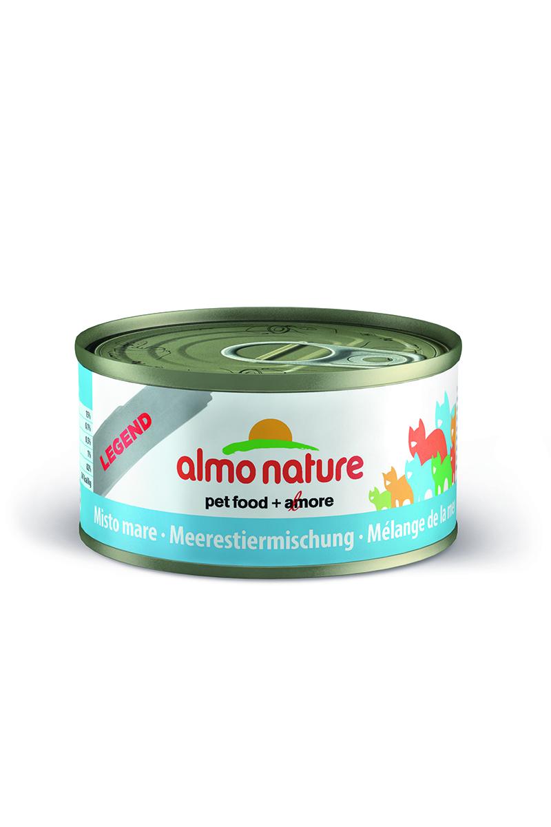Консервы для Кошек с Морепродуктами 75% мяса (Legend Adult Cat Mixed Seafood), 70 г.26496Состав: белая рыба 45%, моллюски 14%, каракатица 9%, креветки 7%, рыбный бульон 24%, рис 1%. Пищевая ценность: белки 15%, клетчатка 0.1%, масла и жиры 0.5%, зола 2%, влажность 82%. Калорийность 567 ккал/кг