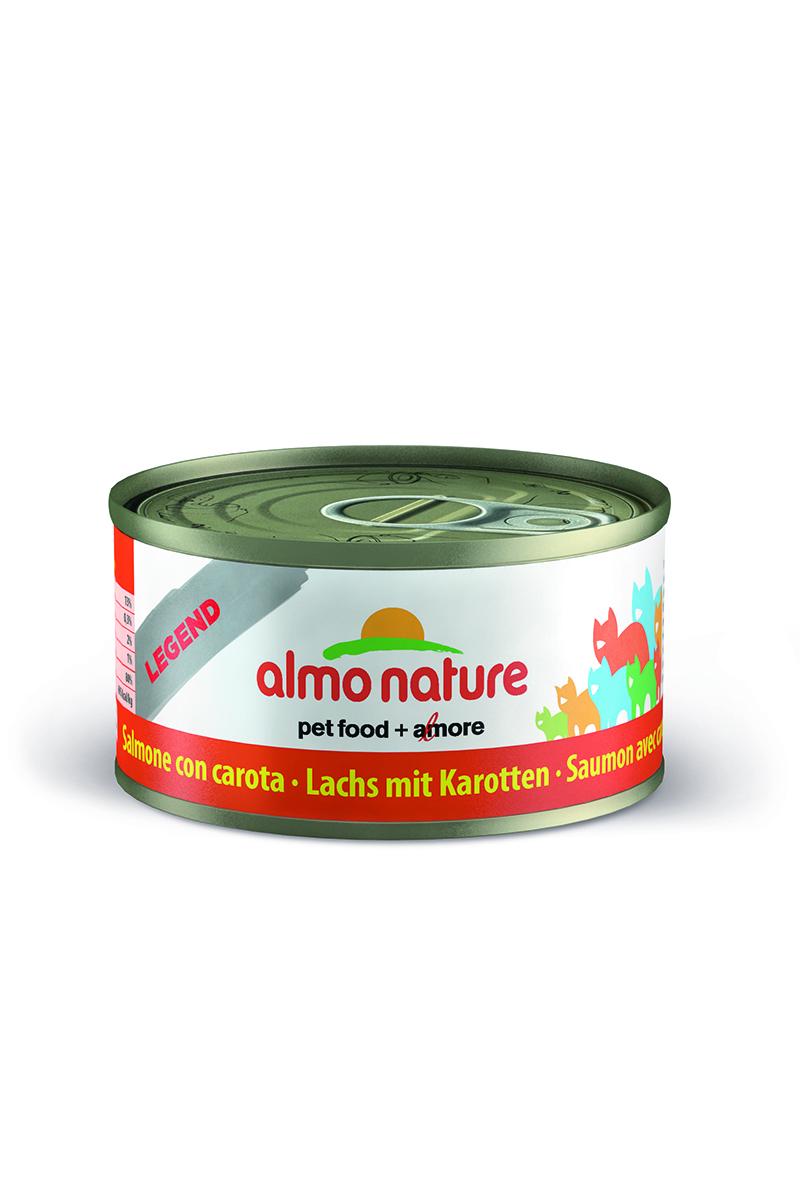 Консервы для кошек Almo Natureс Classic, с лолосем и морковью, 70 г26499Консервы Almo Nature Classic - сбалансированный влажный корм для кошек, изготовленный из ингредиентов высшего качества, являющихся натуральными источниками витаминов и питательных веществ. Состав: лосось 70%, рыбный бульон 24%, морковь 5%, рис 1%. Гарантированный анализ: белки – 15%, клетчатка – 0,3%, жиры – 2%, зола – 2%, влажность – 80%. Калорийность - 737 ккал/кг. Товар сертифицирован.