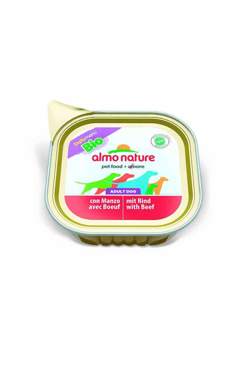 Консервы для собак Almo Nature Daily Menu, паштет, с говядиной, 100 г10164Консервы Almo Nature Daily Menu - сбалансированный влажный корм для собак, изготовленный из ингредиентов высшего качества, являющихся натуральными источниками витаминов и питательных веществ. Состав: мясо и его производные, минеральные вещества, витамин Е – 15 мг/кг, витамин D – 15 мкл/кг. Гарантированный анализ: белки – 10,5%, клетчатка – 1%, жиры – 5%, зола – 3%, влажность – 79%. Товар сертифицирован.