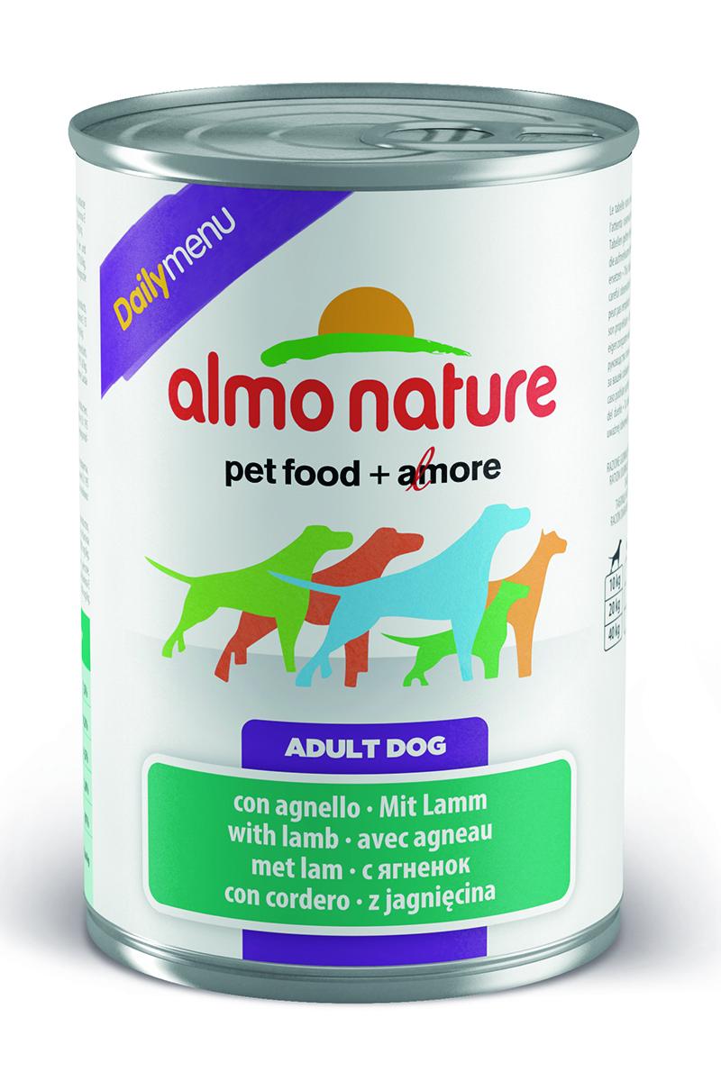 Консервы для кошек Almo Nature Daily Menu, с ягненком, 400 г10367Консервы Almo Nature Daily Menu - это супер-премиум корм для кошек в банке с ключом, которая сохраняет свежесть каждого кусочка. Корм изготовлен только из свежих высококачественных натуральных ингредиентов, что обеспечивает здоровье вашей кошки. Не содержит химических, или каких-либо других искусственных ингредиентов. Состав: мясо и его производные (из которого ягненок 4%), злаки, яйца и яичные продукты, минералы. Пищевые добавки: витамин A 1570 IU/кг, витамин D3 195 IU/кг, витамин E 15 мг/кг, сульфат меди пентагидрат 7,6 мг/кг; технологические добавки: камедь кассии 3300 мг/кг. Пищевая ценность: белки 7,5%, клетчатка 0,2%, жиры 4,5%, зола 2.8%, влажность 81%. Калорийность: 802 ккал/кг. Товар сертифицирован.
