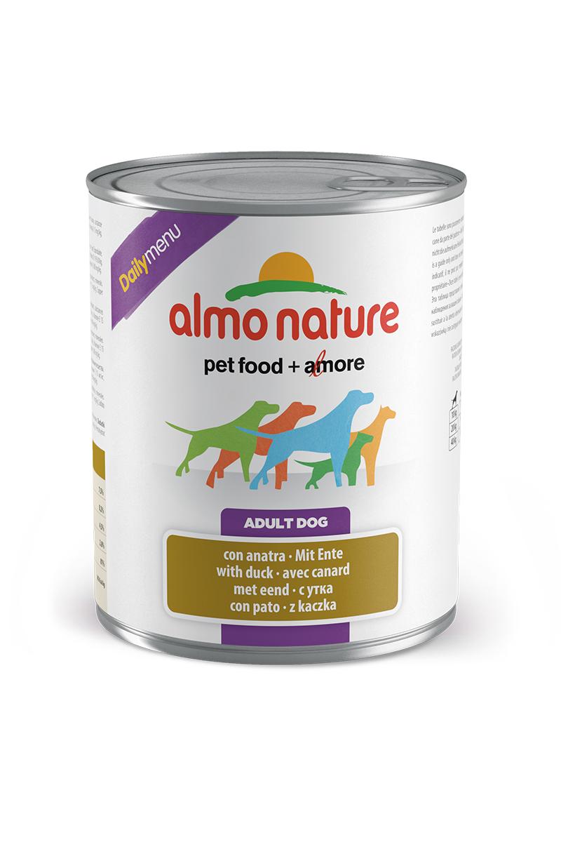 Консервы для кошек Almo Nature Daily Menu, с уткой, 800 г10371Консервы Almo Nature Daily Menu - это супер-премиум корм для кошек в банке с ключом, которая сохраняет свежесть каждого кусочка. Корм изготовлен только из свежих высококачественных натуральных ингредиентов, что обеспечивает здоровье вашей кошки. Не содержит химических, или каких-либо других искусственных ингредиентов. Состав: мясо и его производные (из которых утка 4%), злаки, яйца и яичные продукты, минералы. Пищевые добавки: витамин A - 1570 IU/кг, витамин D3 - 195 IU/кг, витамин E - 15 мг/кг, сульфат меди пентагидрат - 7,6 мг/кг; технологические добавки: камедь кассии - 3300 мг/кг. Пищевая ценность: белки 7,5%, клетчатка 0,2%, жиры 4,5%, зола 2,8%, влажность 81%. Калорийность: 802 ккал/кг. Товар сертифицирован.