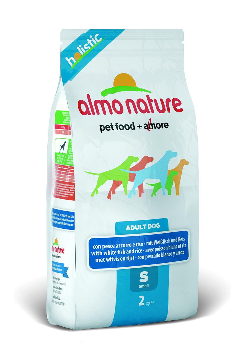 Корм сухой Almo Nature Holistic для взрослых собак малых пород, с белой рыбой и рисом, 2 кг10378Полнорационный корм Almo Nature Holistic для взрослых собак малых пород. Корм содержит большой процент свежей рыбы, что обеспечивает необходимым количеством питательных веществ и оптимальным содержанием протеина. Прекрасный вкус обеспечивается за счет свежих натуральных ингредиентов. Не содержит искусственных добавок, красителей, ароматизаторов, консервантов. Состав: мясо рыбы и его производные 52% (из которых 27% свежеприготовленная белая рыба), злаки (рис 14%, ячмень, овес), экстракт растительного белка, овощи и производные растительного происхождения, масла и жиры, дрожжи, минералы, мананоолигосахариды (MOS), фруктоолигосахариды (FOS). Пищевые добавки: витамин A 22000 IU/кг, витамин D3 1400 IU/кг, витамин E 300 мг/кг, витамин B1 12 мг/кг, витамин B2 14 мг/кг, кальций D-пантотенат 20 мг/кг, витамин B6 12 мг/кг, витамин B12 0,15 мг/кг, биотин 0,50 мг/кг, ниацин 25 мг/кг, фолиевая кислота 1 мг/кг, L-карнитин 100 мг/кг, сульфат пентагидрат меди 32...