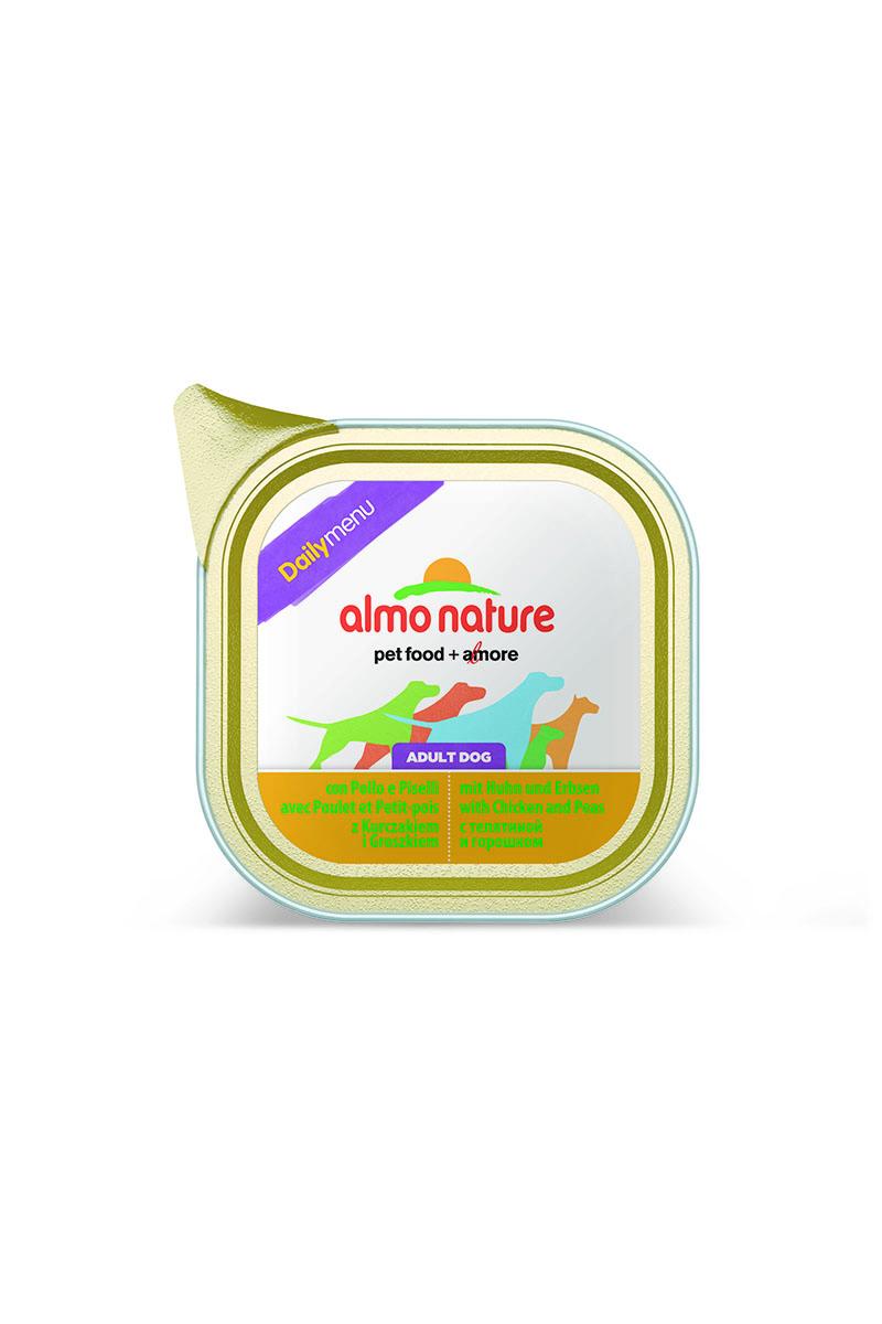 Паштет для собак Almo Nature Daily Menu, с курицей и горошком, 300 г15273Паштет для собак Almo Nature Daily Menu изготовлены из отборных, гипоаллергенных и легко усвояемых ингредиентов. Содержат питательные, высококачественные продукты: подлинное мясо свободного выгула - без гормонов и антибиотиков, а также овощи, произрастающие в экологически чистых условиях без использования пестицидов и химических веществ. Состав: мясо и его производные (мясо 60%, курица 20%), рыба и ее производные, овощи (из которых горошек 4%), минералы. Питательные добавки: витамин Е 20 мг/кг, медь (сульфат меди 1 мг/кг), цинк (оксид цинка) 20 мг/кг. Гарантированный анализ: белок – 9,5%, клетчатка – 0,3%, жиры – 5,5%, зола – 2,2%, влажность – 82%. Калорийность: 820 ккал/кг. Товар сертифицирован.