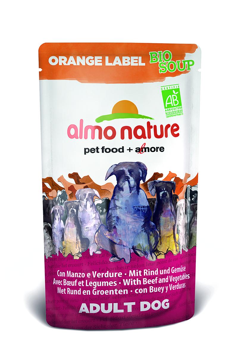 Органик-Суп для Собак с Говядиной и Овощами (Orange label BIO Soup Beef&Vegetables), 140 г.23262Состав: говядина и ее производные (из которых говядина мин 4%), овощи (морковь и зеленый горошек мин. 4% в соусе), злаки, минералы, экстракт растительного белка. Питательные добавки: Витамин D3 276 МЕ/кг Гарантированный анализ: белки – 7,5%, клетчатка – 0,8%, жиры – 6%, зола – 2%, влажность – 81%. Калорийность – 964 ккал/кг