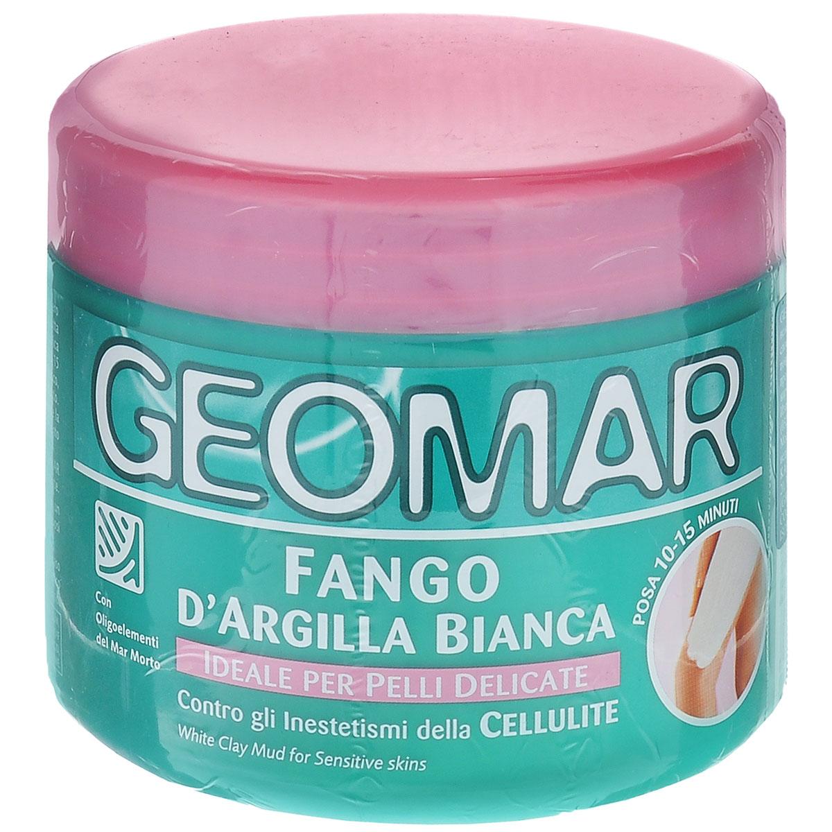 Geomar Грязь антицеллюлитная Белая глина для чувствительной кожи 500 мл.38680005Косметическое средство для чувствительной и нежной кожи. Помогает уменьшить появление целлюлита.
