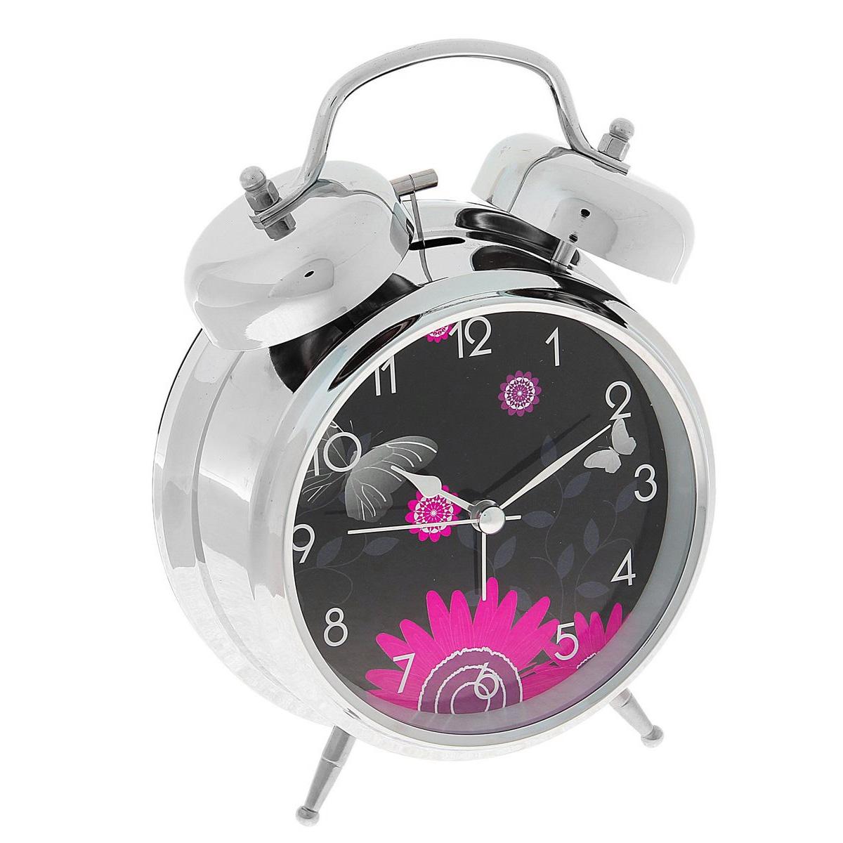 Часы-будильник Sima-land Цветы. 720865720865Как же сложно иногда вставать вовремя! Всегда так хочется поспать еще хотя бы 5 минут и бывает, что мы просыпаем. Теперь этого не случится! Яркий, оригинальный будильник Sima-land Цветы поможет вам всегда вставать в нужное время и успевать везде и всюду. Корпус будильника выполнен из металла. Циферблат имеет индикацию арабскими цифрами. Часы снабжены 4 стрелками (секундная, минутная, часовая и для будильника). На задней панели будильника расположен переключатель включения/выключения механизма, а также два колесика для настройки текущего времени и времени звонка будильника. Также будильник оснащен кнопкой, при нажатии которой подсвечивается циферблат. Пользоваться будильником очень легко: нужно всего лишь поставить батарейки, настроить точное время и установить время звонка. Необходимо докупить 2 батарейки типа АА (не входят в комплект).