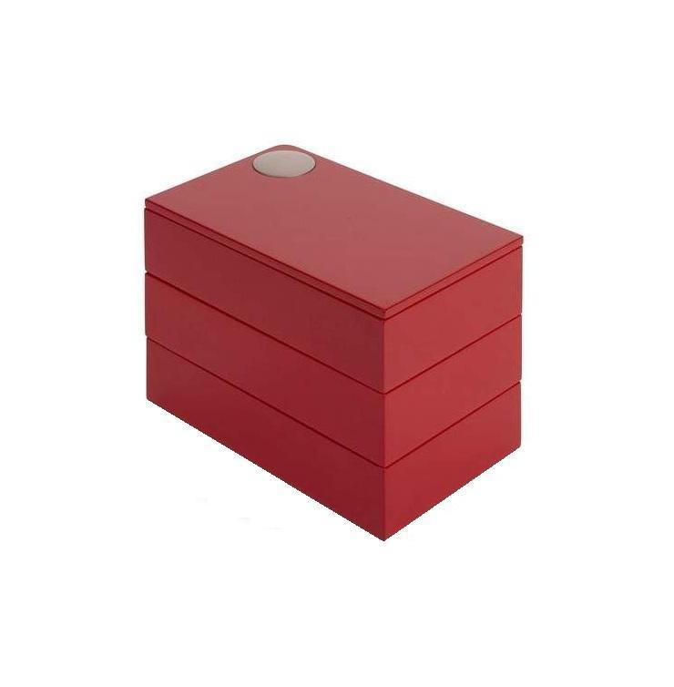 Шкатулка Spindle красная308712-505Кольца, цепочки, сережки теперь будут иметь свой дом и не будут разбросаны по всему столику. Удобная шкатулка Spindle на магнитной застежке станет хранилищем Ваших самых ценных мелочей.