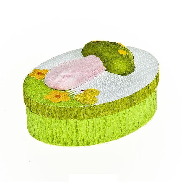 Шкатулка декоративная Весенняя, цвет: светло-зеленый, 10,5 см х 8 см х 4 см60669_1Овальная шкатулка Home Queen Весенняя изготовлена из бумаги.Шкатулка прекрасно подойдет для упаковки пасхального подарка для детей и взрослых