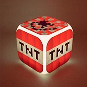 Часы настольные пиксельные с подсветкой Блок ТНТ Minecraft