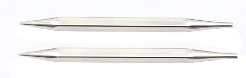 Спицы съемные Nova cubics 5мм для длины тросика 28-126см, никелированная латунь, серебристый, 2шт в упаковке12323Nova cubics. Высококачественные квадратные спицы с инновационным латунным покрытием, наносимым гальваническим путем. Поверхность спиц гладкая как шелк, позволит Вам часами наслаждаться вязанием.