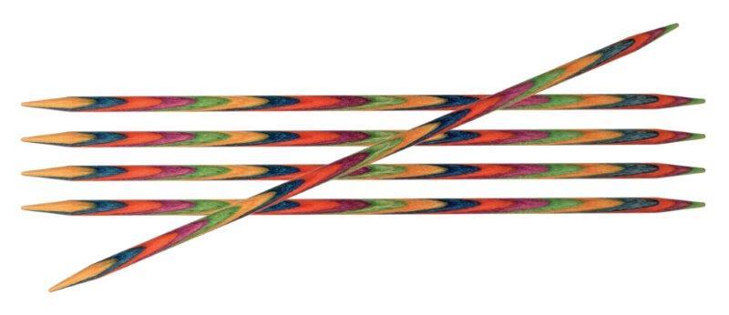 Спицы чулочные Symfonie 4,5мм/20см, дерево, многоцветный, 5шт в упаковке20110Symfonie – эти изящные спицы с привлекательной, разноцветной текстурой созданы, чтобы стать любимцами у каждой рукодельницы. Очень легкие, деревянные спицы из ценных пород дерева.