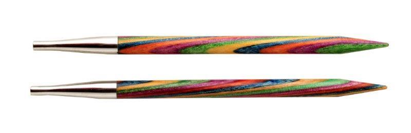 Спицы съемные Symfonie 4,5мм для длины тросика 28-126см, дерево, многоцветный, 2шт в упаковке20404Symfonie – эти изящные спицы с привлекательной, разноцветной текстурой созданы, чтобы стать любимцами у каждой рукодельницы. Очень легкие, деревянные спицы из ценных пород дерева.