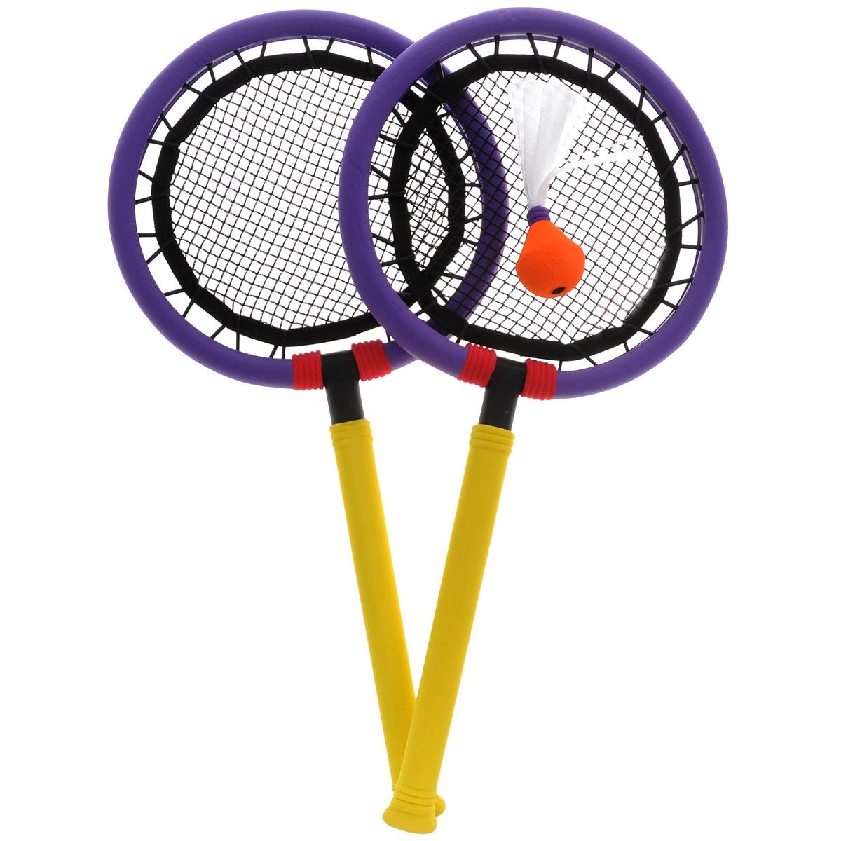 """Safsof Набор для игры в бадминтон """"SafSof"""", цвет: фиолетовый, желтый"""