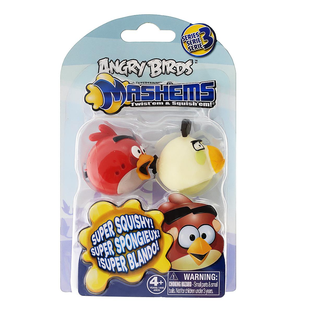 Angry Birds Игрушка-мялка Mashems, 2 шт50281-0000012-03Детская игрушка Angry Birds Mashems - это игрушка-мялка, выполненная в виде персонажа всеми любимой игры Angry Birds. Игрушка выполнена из мягкой резины, внутри которой находиться жидкий наполнитель, благодаря чему она легко изменяет форму и структуру при приложении к ней физической силы, а затем принимает первоначальный вид. В набор входят 2 птички-мялки.